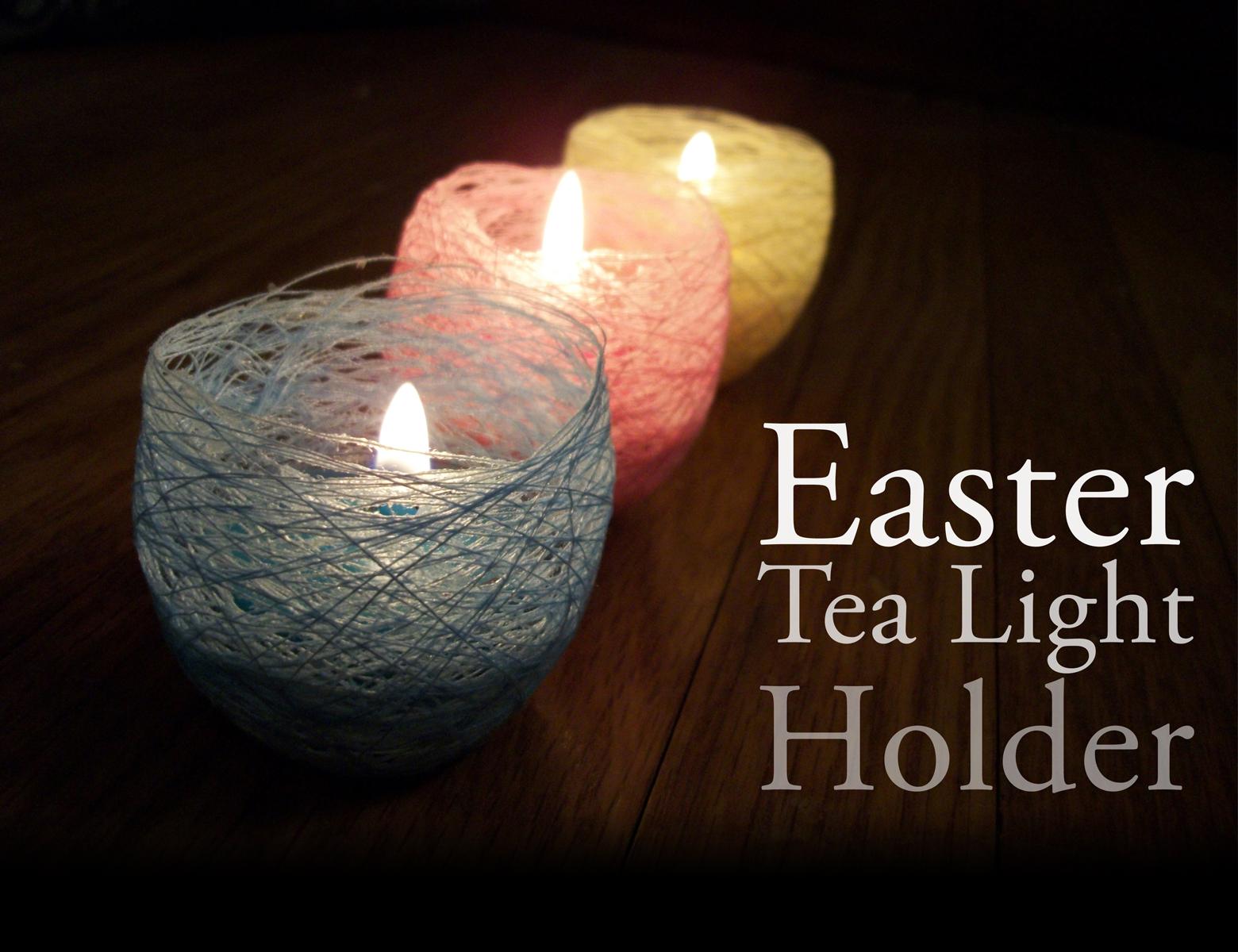 mind ruffle diy easter tea light candle holder. Black Bedroom Furniture Sets. Home Design Ideas