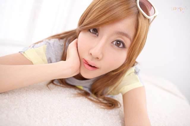 Choi-Byul-I-Yellow-and-Grey-06-very cute asian girl-girlcute4u.blogspot.com