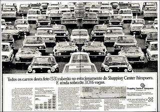 Shopping Center Ibirapuera, 1974, os anos 70; propaganda na década de 70; Brazil in the 70s, história anos 70; Oswaldo Hernandez;