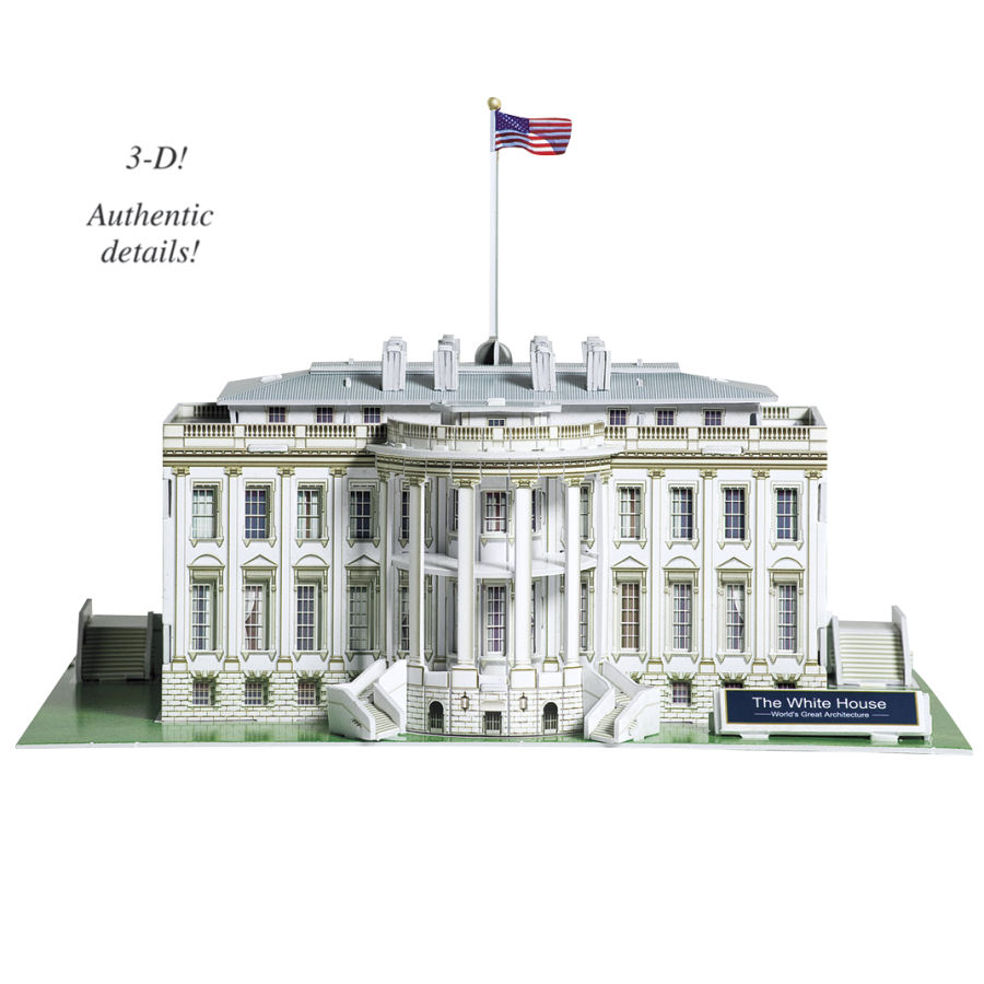 Embody More Light 7 White House 3d Puzzle