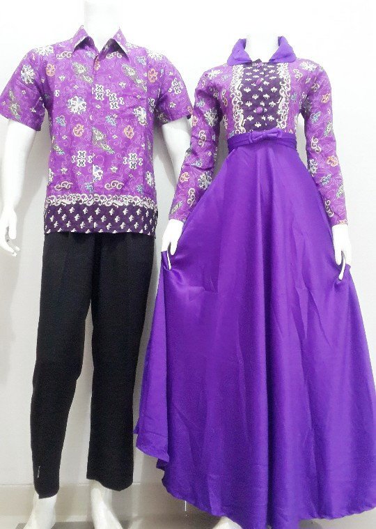 Baju Batik Gamis Sarimbit Kode Srg87 Batik Bagoes Solo