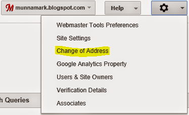 Google Webmaster Tools - Change of Address