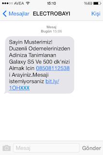 08508112538 kısa mesaj