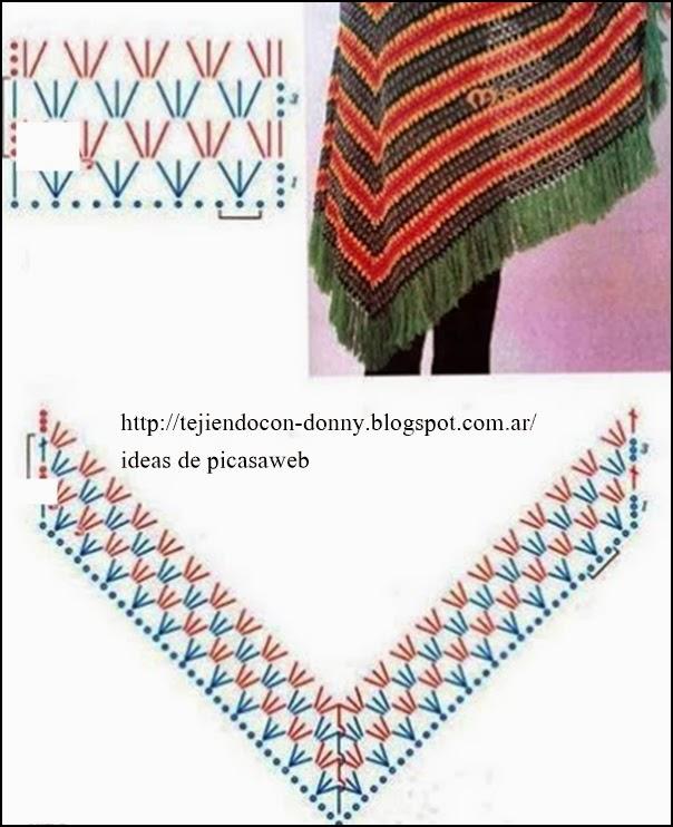 Patrones de poncho a crochet para niña - Imagui