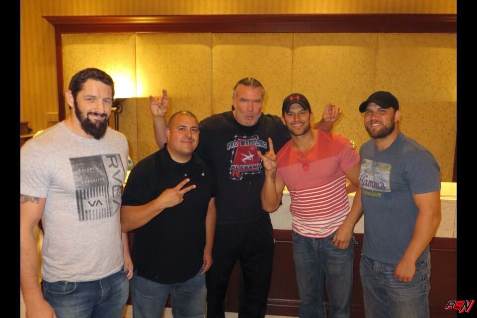 Scott Hall Hangs Out With WWE Superstars.