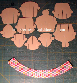 cut pieces for sliceform cupcake