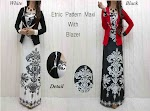 Etnic Pattern Maxi With Blazer SOLD OUT