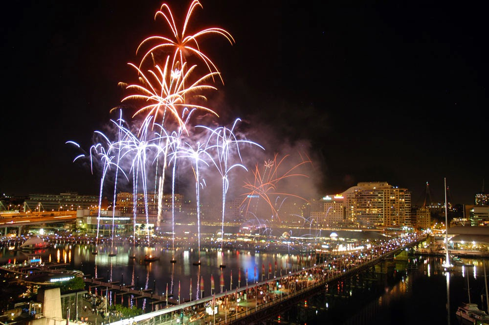 Fireworks in August 2014 - Darling Harbour Sydney
