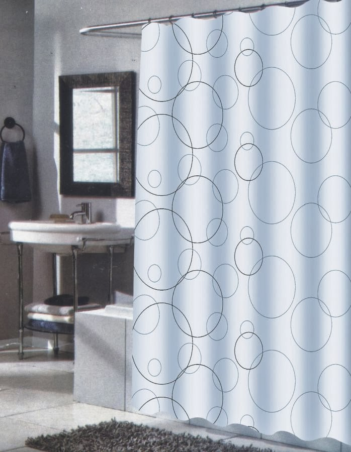 ... for Mid-Century: Mid-Century Modern Shower Curtain with Gray Circles