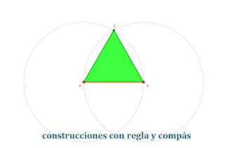 Triángulo equilátero sobre un lado dado