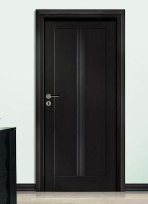 Drzwi Vox proste, z pionowa listwą frezowaną