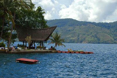 Toba Lake Panorama Beauty in North Sumatra