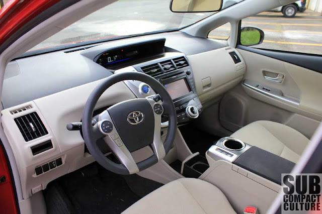 2012 Toyota Prius v dashboard - Subcompact Culture