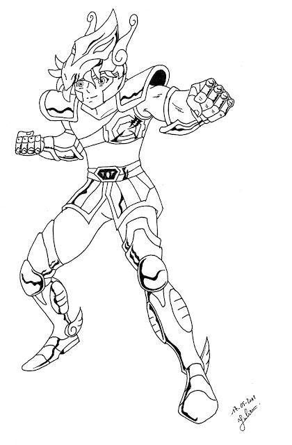 dessin de seiya chevalier de Pegase