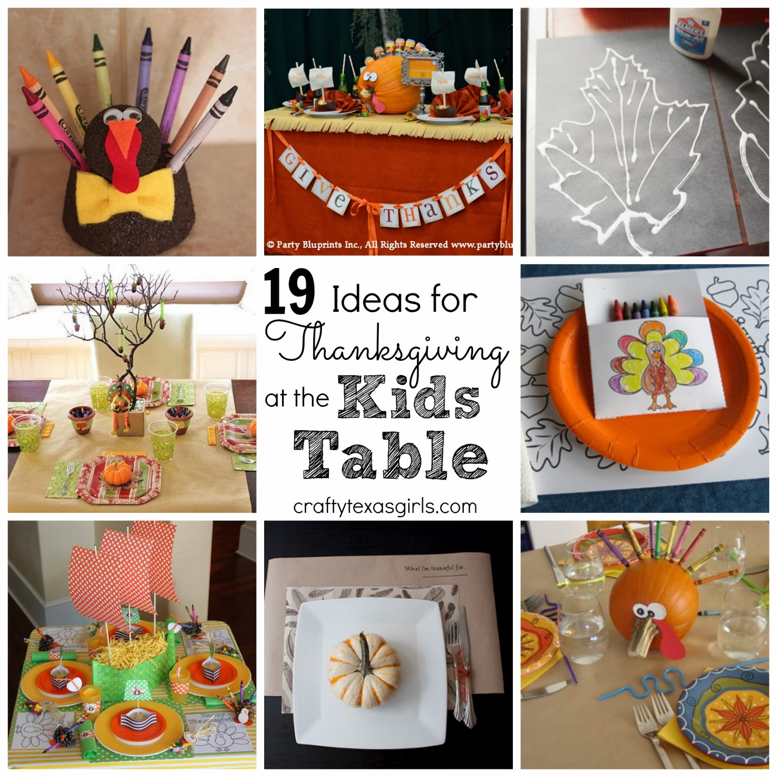 Crafty texas girls thanksgiving table ideas for kids