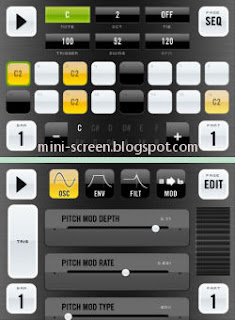 bleep!BOX Music Creator App Interface on iPhone