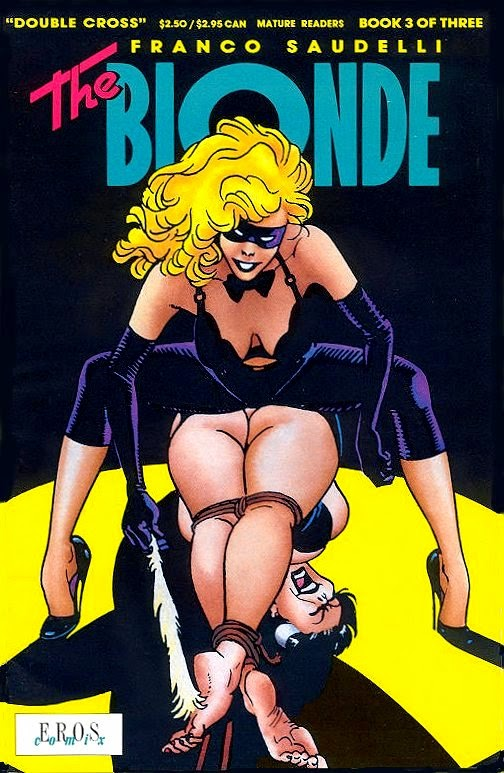 franco saudelli bionda blonde bondage comic bdsm