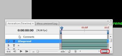 ... bar baru klik convert to frame animation yang paling pojok kanan bawah