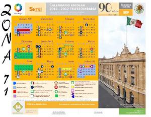 Calendario de Telesecundaria