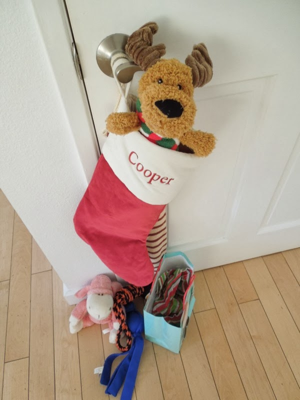 Cooper Christmas stocking 2013