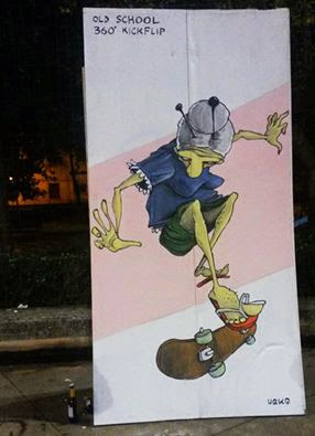 urka street art skater painting graffiti