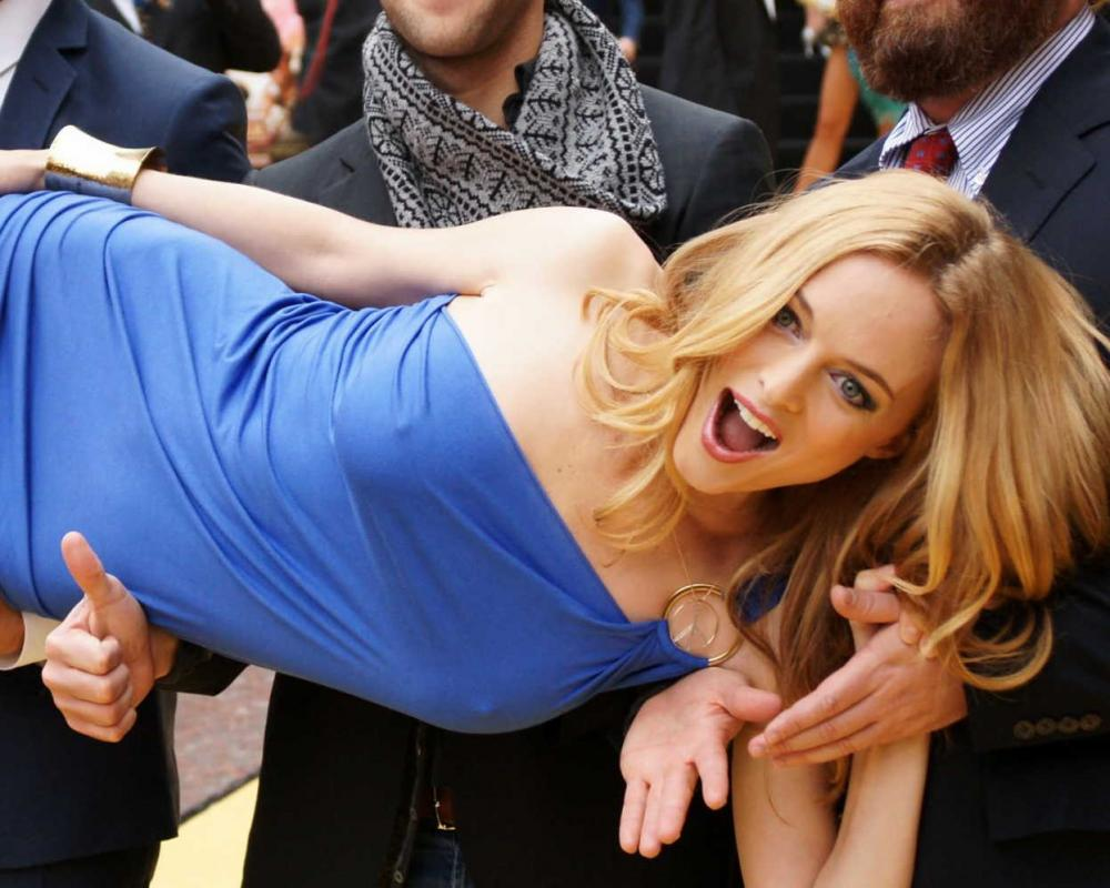 Heather Graham Blue Dress