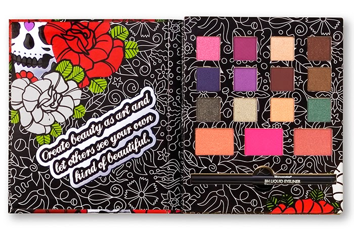 BH Cosmetics: Dark Rose Eyeshadow, Blush and Liquid Eyeliner Palette