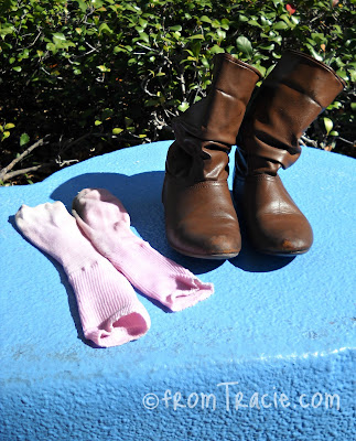 Boots and Socks Drying in the Sun