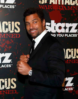 Manu Bennett at Spartacus War of the Damned Premiere event in NY