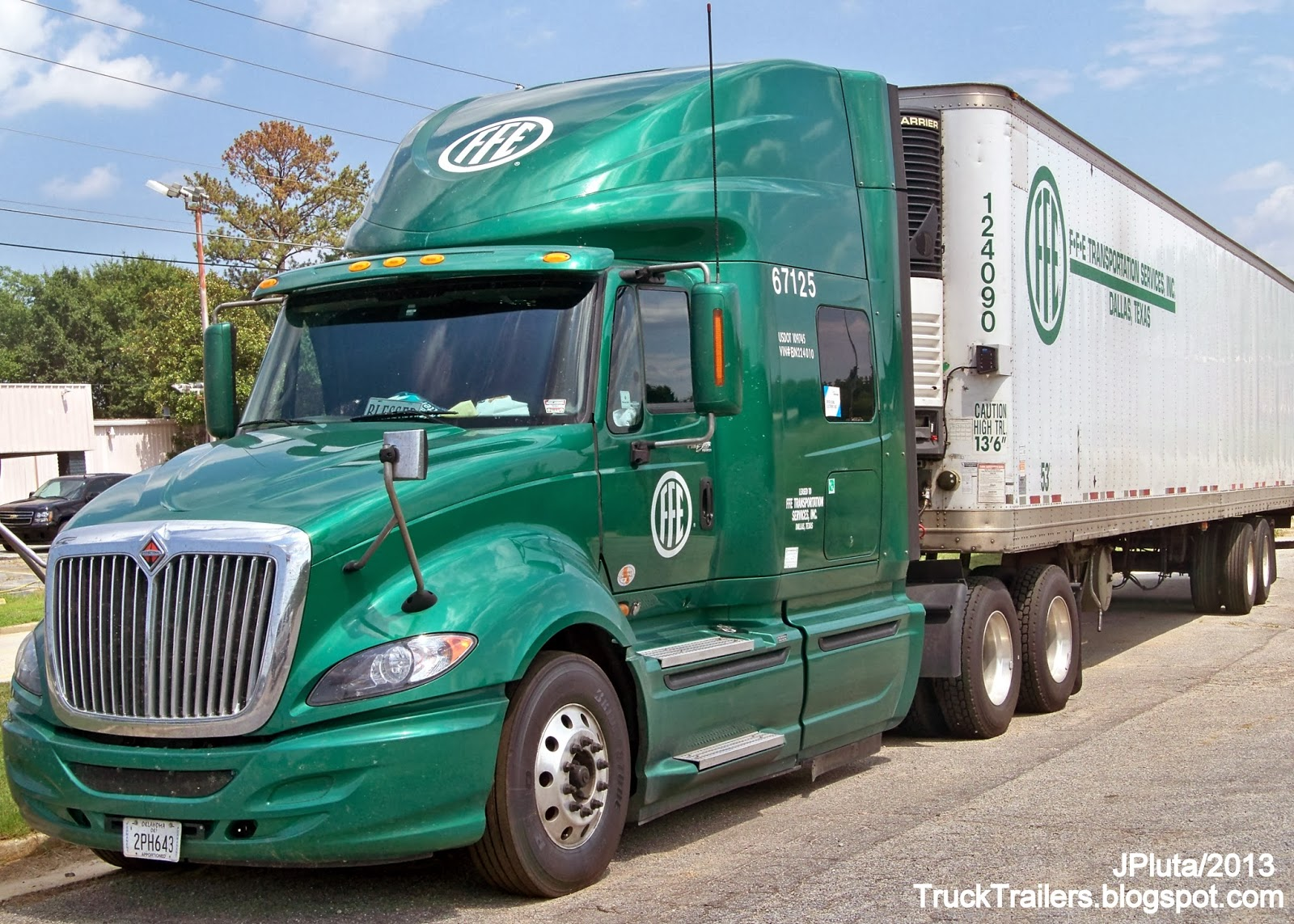... Trailer Truck Refrigerated Van Atlanta Georgia State Farmers Market