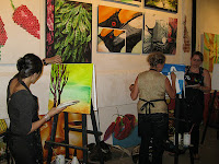 Artiste exposing their talents at the Warehouse Gallery
