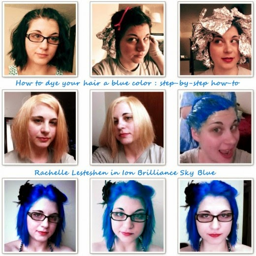 the how to step by step to dye your hair blue