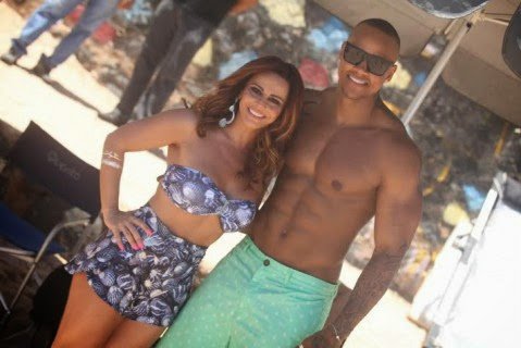 Viviane Araújo é estrela do clipe da nova música de Léo Santana, aposta do Carnaval de Salvador