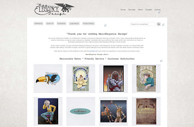 screen shot of the illustration website Neo-Elegance Design