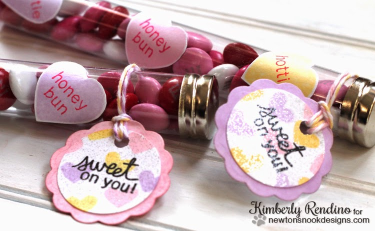 Sweet Treats Blog Hop Valentine test tube treats by Kimberly Rendino | Newton's Nook Designs