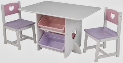 Kidkraft Heart Table and Chair Set with Pastel Bins & Kidkraft Heart Table Chair Pastel Big Deal: Kidkraft Heart Table and ...