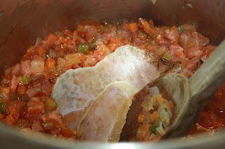 zuppa farro preparazione