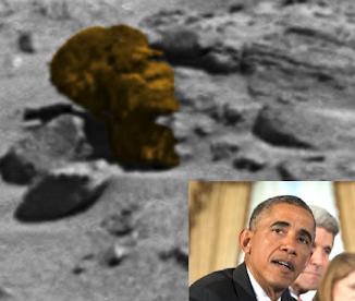 Obama Head On Mars!