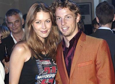 Jenson Button y Louise Griffiths