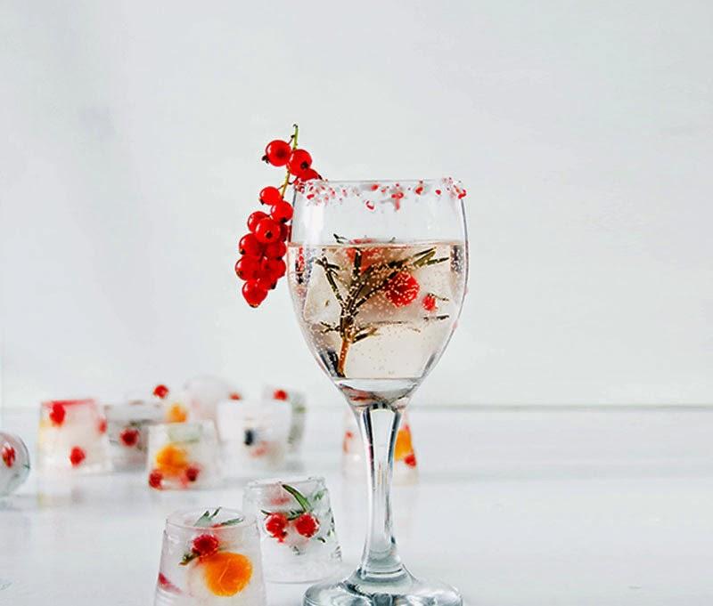cubitos de hielo con sabores