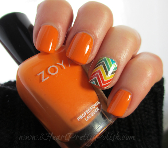 Zoya Sharon Jamberry Nail Shield Multi Color Chevron