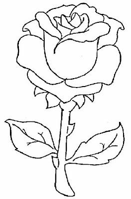 Rosas para colorear, Rosas para Pintar, Dibujos de Flores, Dibujos