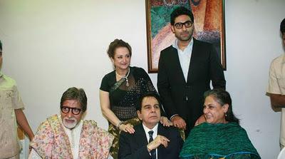 Dilip Kumar Birthday celebration with Amitab family