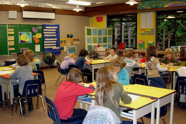 Elementary Classroom Pictures ~ Pe with tom e cincinnatus elementary school day