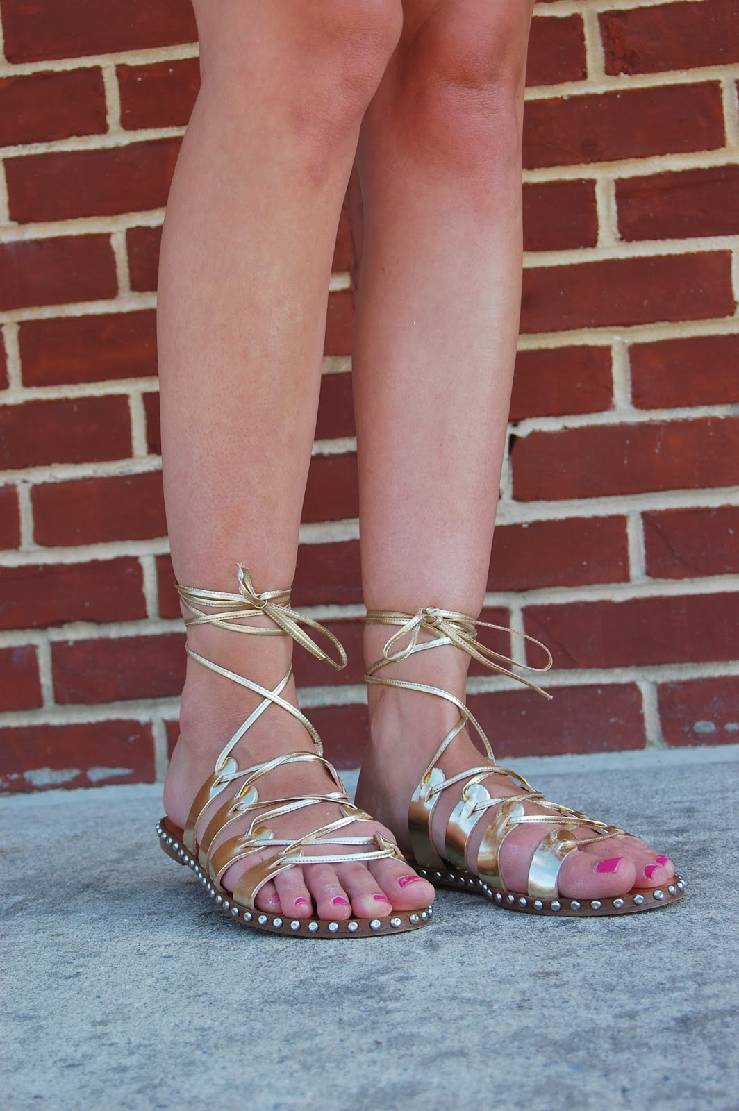 Wearing Jcrew Studded Lace Up Gladiator Sandals, Jcrew summer 2014 new arrivals
