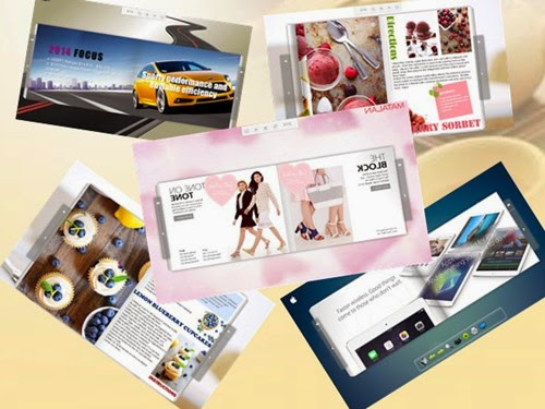 create a striking digital brochure