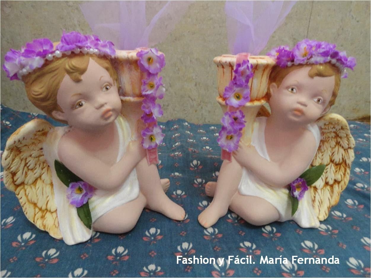 Entre Ángeles. Pintar ángeles en cerámica. Ángeles estilo Vintage