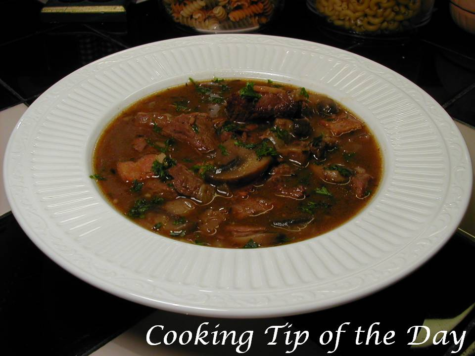 Cooking Tip of the Day: Recipe: Steak and Mushroom Stew