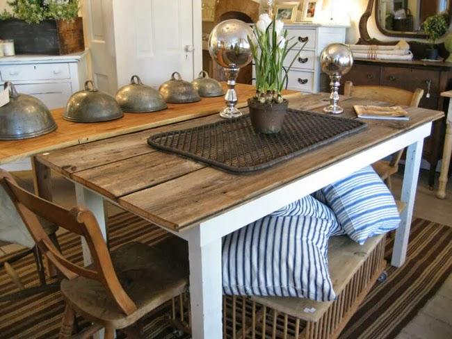 Estilo rustico mesas rusticas y de carpintero for Mesa de carpintero