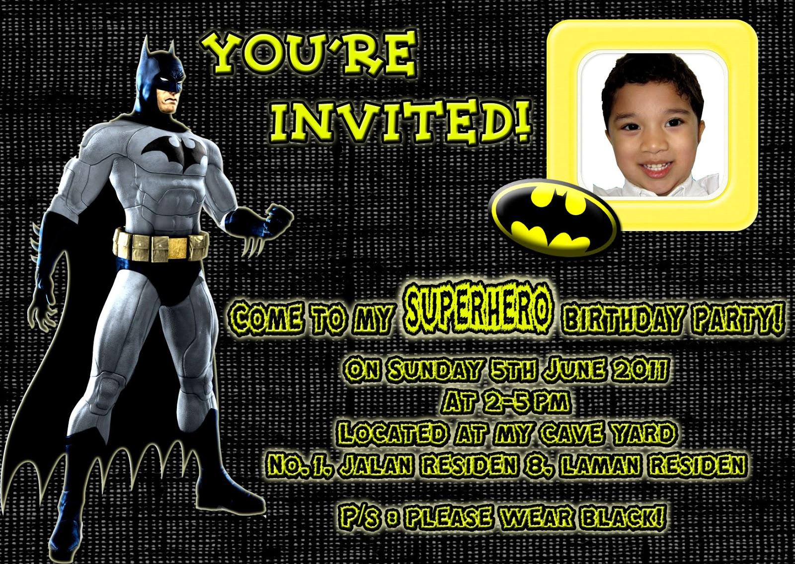Pinky Creative Design: Irsyad Birthday, Batman Theme!